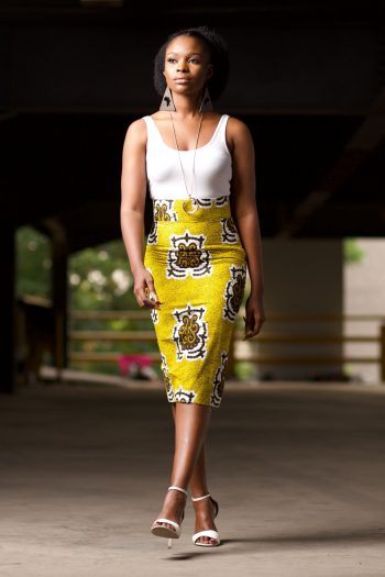 African Print Ankara Midi Pencil Skirt AANU by Naborhi