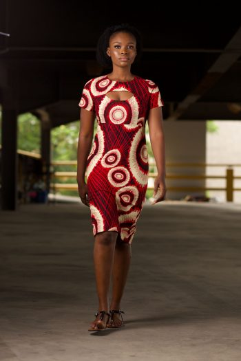 African Print Ankara Open Front and Back Midi Dress - TAYLA by Naborhi