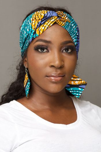 African Print Ankara Turban Headband with Elastic KANYI by Naborhi