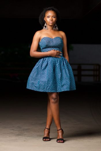 African Print Strapless Top and Matching Short Skirt - Mosi by Naborhi