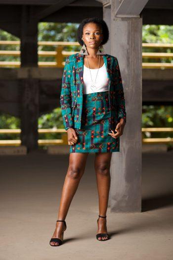 Ankara Blazer and Short Skirt Set TELAZA by Naborhi