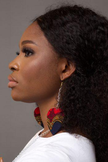 DEMI African Print Ankara Double Heart Shape Earrings