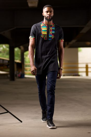 Kente African Shirt for Men - Azizi by Naborhi