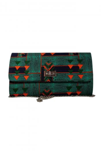 TELAZA African Print Kente Handbag with Shoulder Chain by Naborhi