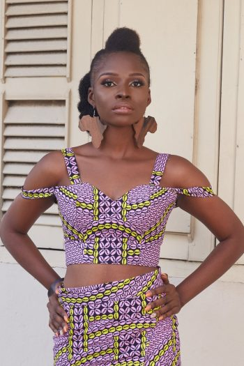 Rachelle African Print Crop Top