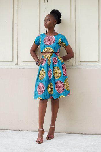 Zola African Print Skirt