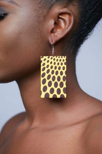 Fana Ankara Rectangle Spot Earrings