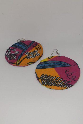 Tahira Ankara Circle Earrings Pink