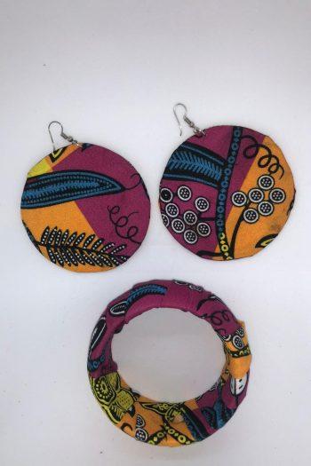 Tahira Ankara Earrings and Bangle Set