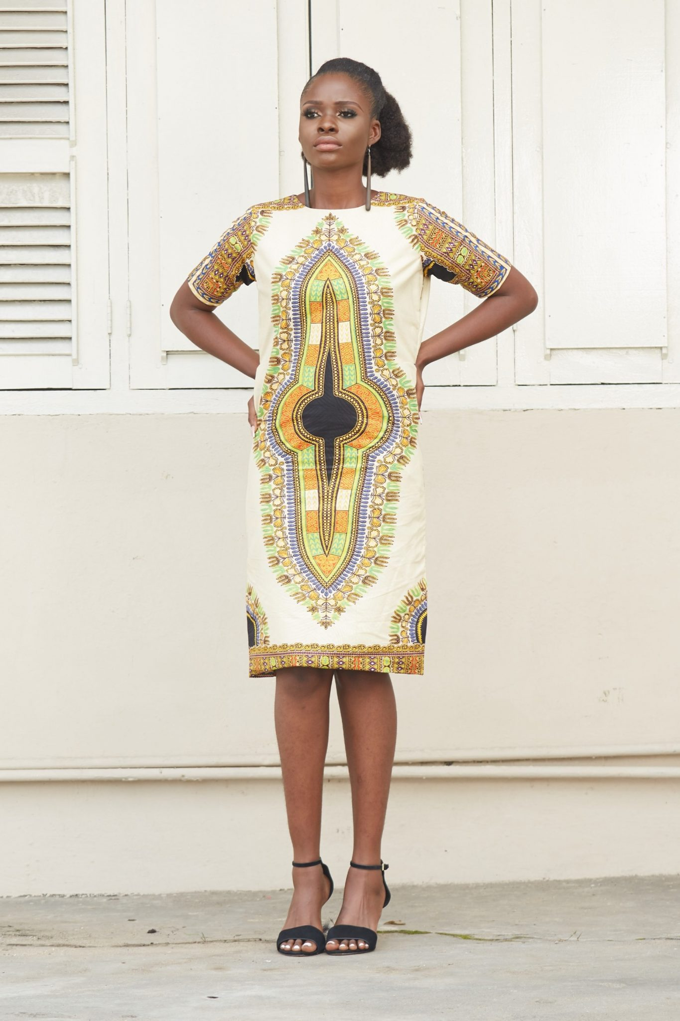 African Clothing Designs African Print Ankara Midi Sheath Dress Malaika Naborhi