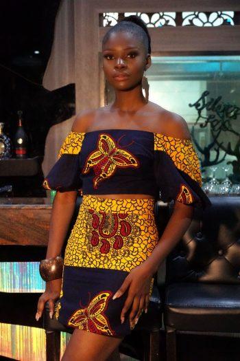 Azana off the shoulder African Top