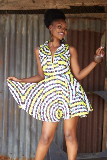 African Print Ankara Dress - African Inspired Clothing by Naborhi