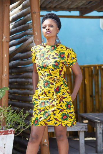 African Print Ankara Dress Sola - Short African Dresses Naborhi