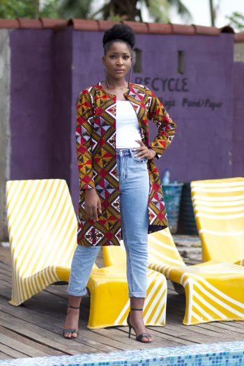 African Fashion Coat - Ankara Duster Coat Adure by Naborhi