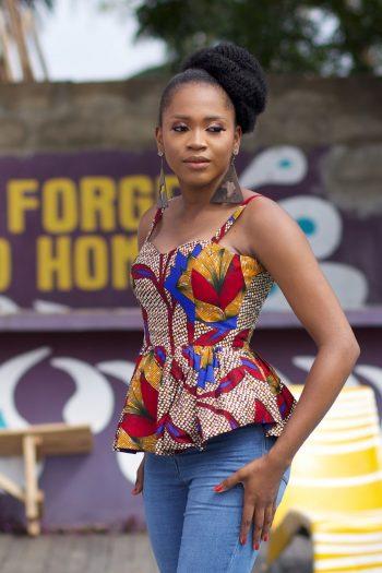 African Print Peplum Top by Naborhi - Jaiye