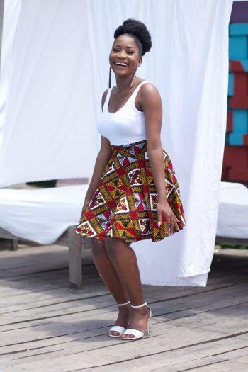 High Waist African Ankara Skirts - Dayo Ankara Mini Skirt by Naborhi