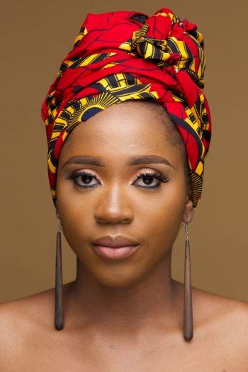 Uwa African Print Ankara Red and Yellow Head Wrap by Naborhi