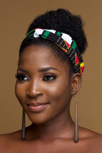 Twist front African Print Head Band Azuka by Naborhi
