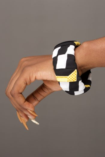 Kasimma African Print Bangle Wrapped in Ankara by Naborhi