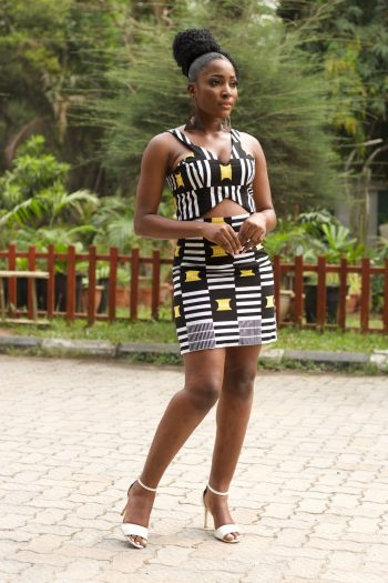 Kasimma Kente Print Crop Top and Matching Mini Skirt - Kasimma by Naborhi