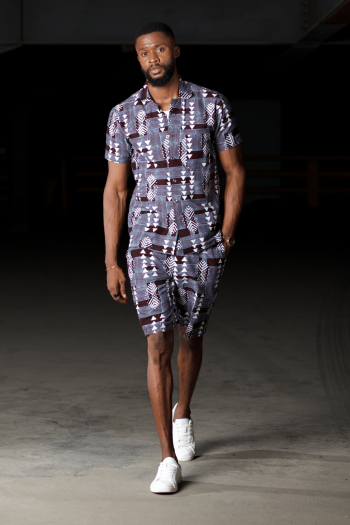 African Mens Short Suit BERHANE by Naborhii