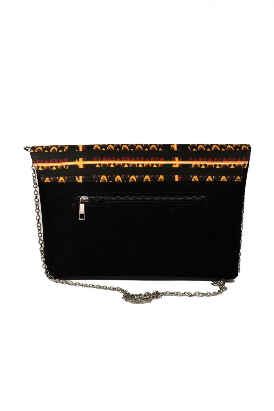 Ankara Suede Handbag with Shoulder Chain AZU by Naborhi