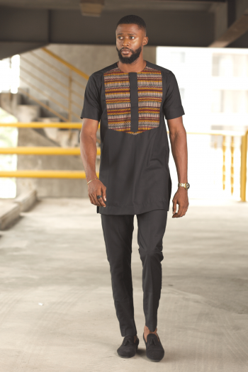 MAKU African Short Sleeve Mens Shirt with Matching Pants by Naborhi