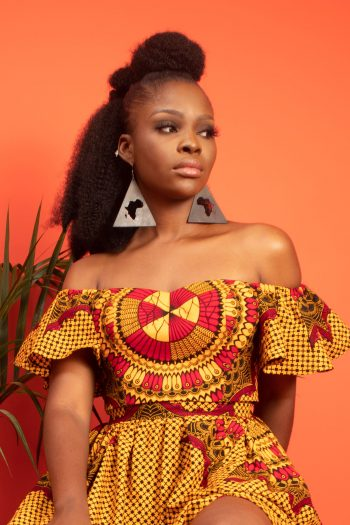 AKILI Off Shoulder African Print Crop Top