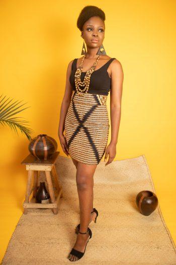 African Print Ankara Mini Skirt FISAYO by Naborhi