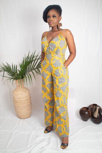African Print Ankara Wide Leg Jumpsuit MASEGO by Naborhi