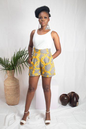 MASEGO African Print Ankara Shorts by Naborhi