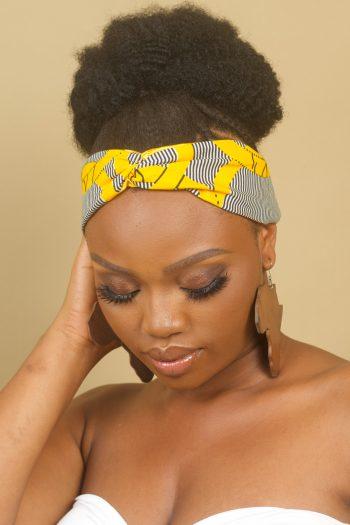MASEGO African Print Twist Headband by Naborhi