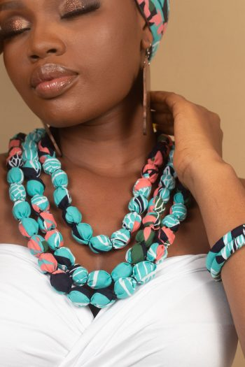 NAEEMAH African Print Ankara Beaded Necklace by Naborhi