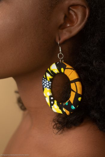 Taraji Ankara Hoop Earrings by Naborhi