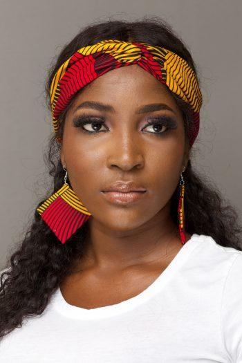 Zarina African Print Headband with Matching Earrings by Naborhi